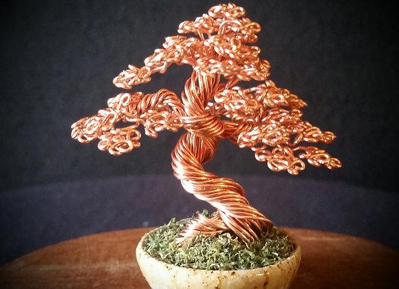 #130 Mini Copper Wire Tree Sculpture