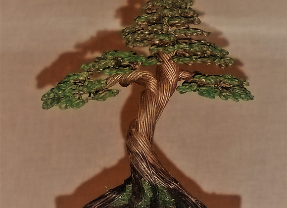 Wire Tree Sculpture By Rick Skursky #183 Paper wrarpped Wire