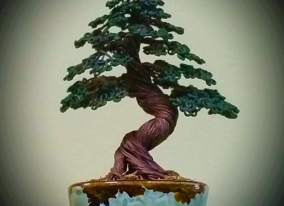 #147 Informal Upright Wire Tree Sculpture