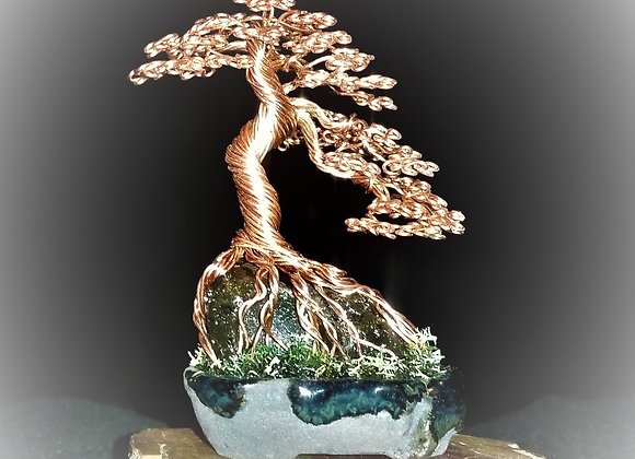 Mini Wire Tree  Copper #190 By Rick Skursky