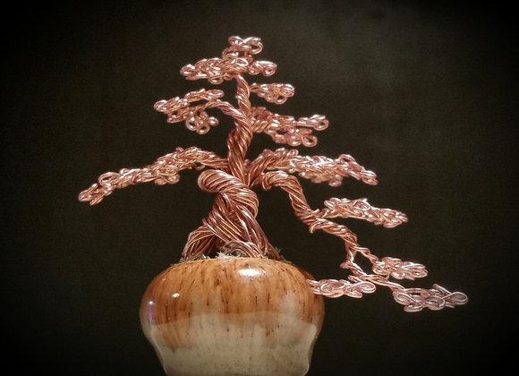 #103 Semi-Cascading Wire Tree Sculpture