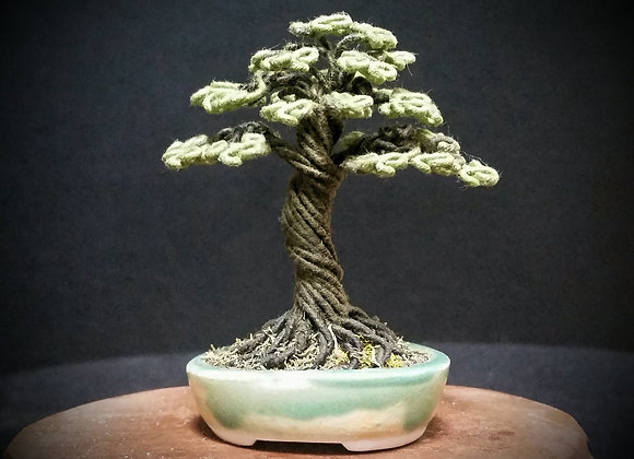 #155 Cloth Wrapped Wire Tree Sculpture