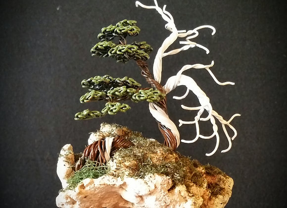 #127 Hand Painted Wire Tree Sculpture