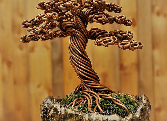 Copper Wire Tree #172 By Rick Skursky