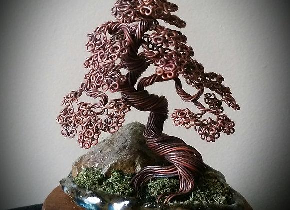 #124 Annealed Copper Wire Tree Sculpture