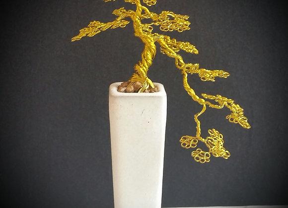#82 Cascading Brass Tree Sculpture