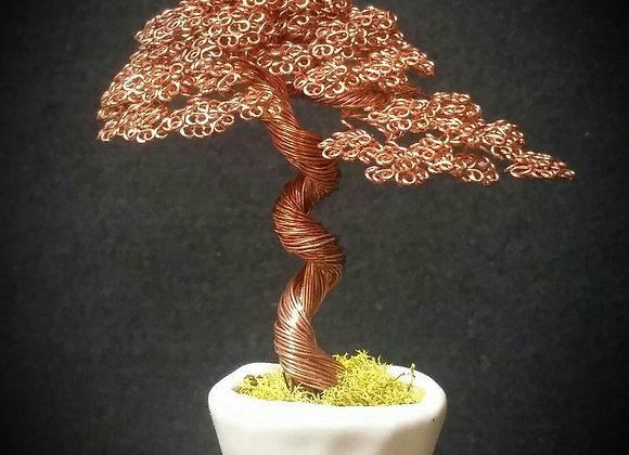 #143 Bright Copper Wire Tree Sculpture