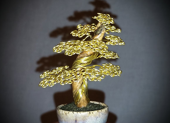 Simple Gold Wire Tree #176 By Rick Skursky