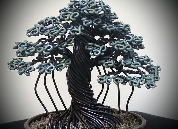 #148 Banyan Style Wire Tree Sculpture