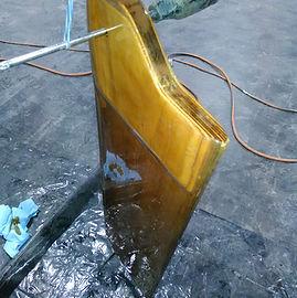 New rudder drying