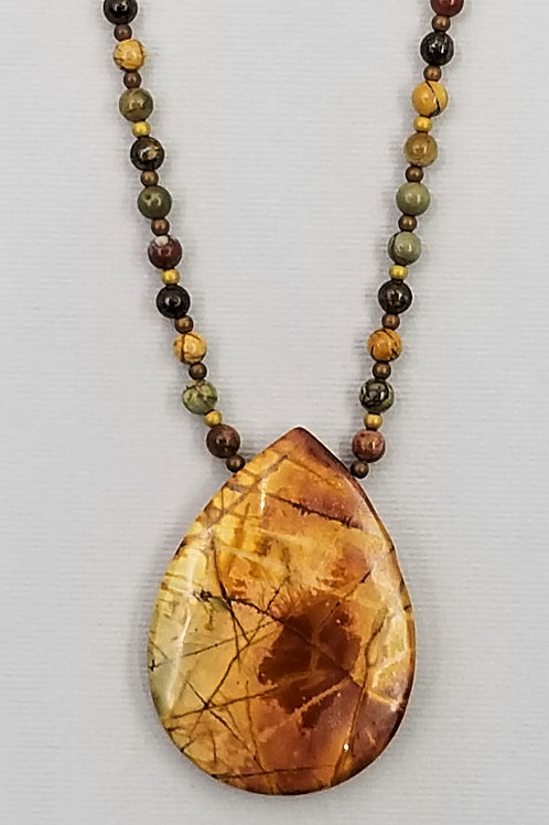 Cherry Creek jasper necklace and pendant