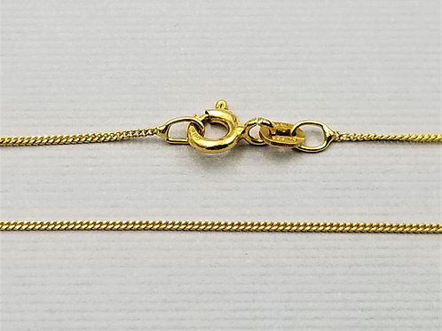 "Lightweight Curb Style Chain, 18"", 14k gold"