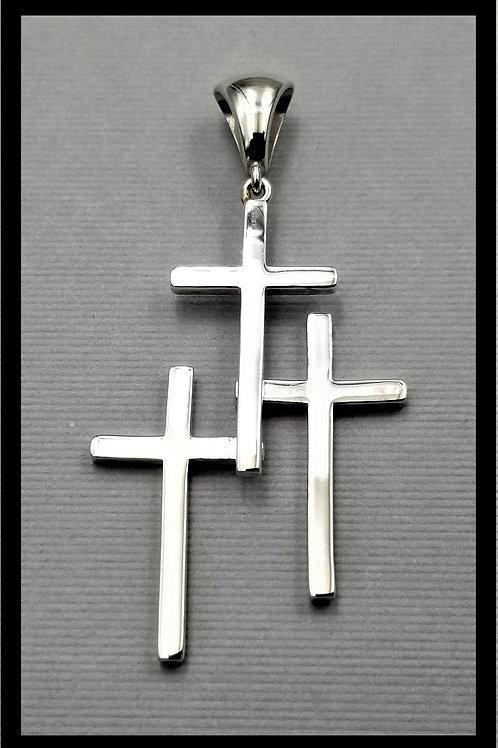 Large Cross Pendant, sterling silver