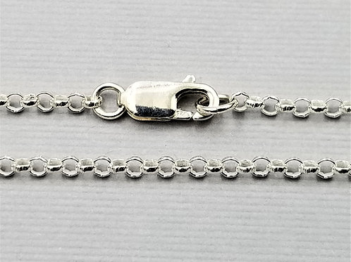 "2.5 mm ""Rolo"" Chain, sterling silver"