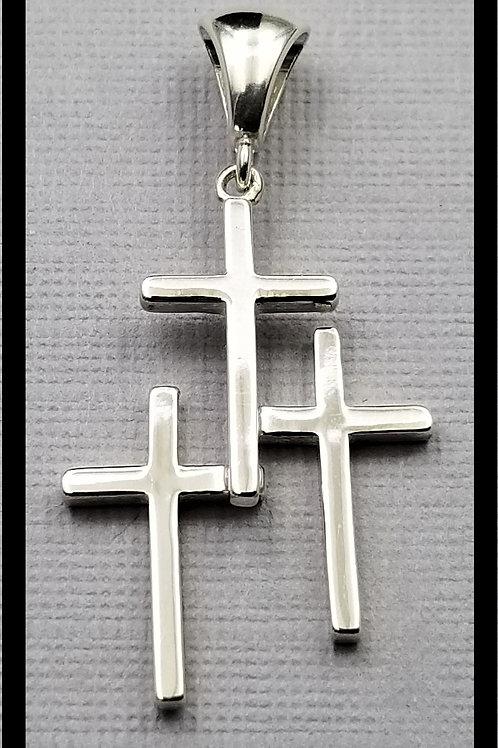 Medium Cross Pendant, sterling silver