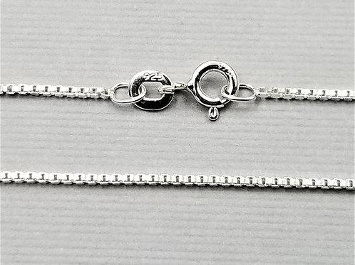 Medium Box Chain, sterling silver