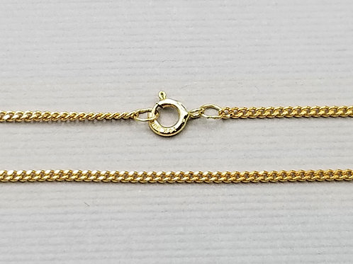 "Medium Weight Curb Style Chain, 18"", 14k gold"