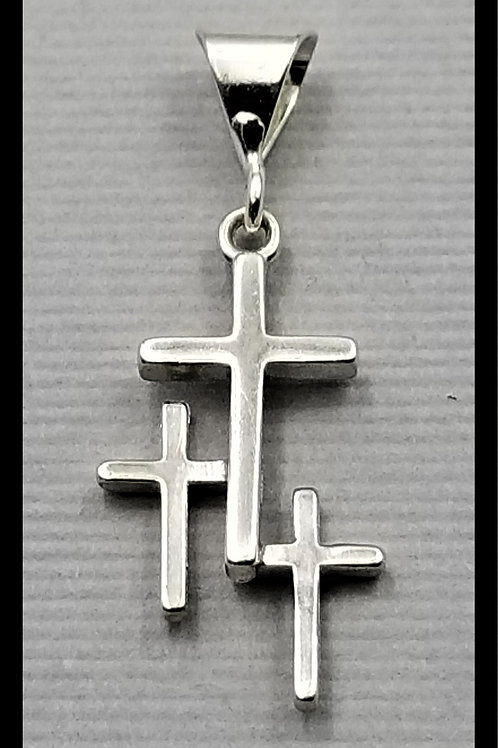 Small Cross Pendant, sterling silver