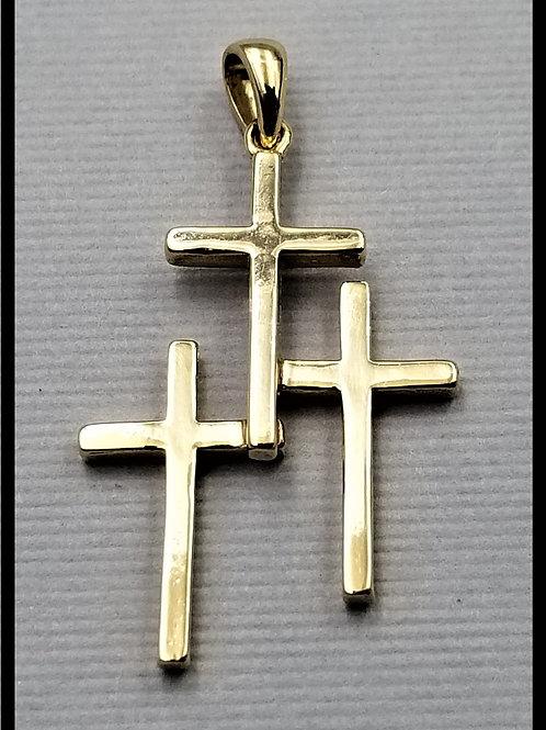 Medium Cross Pendant, 14k gold