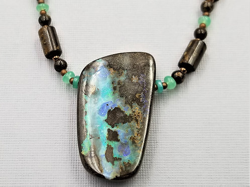 Boulder Opal With Bronzite and Chrysoprase