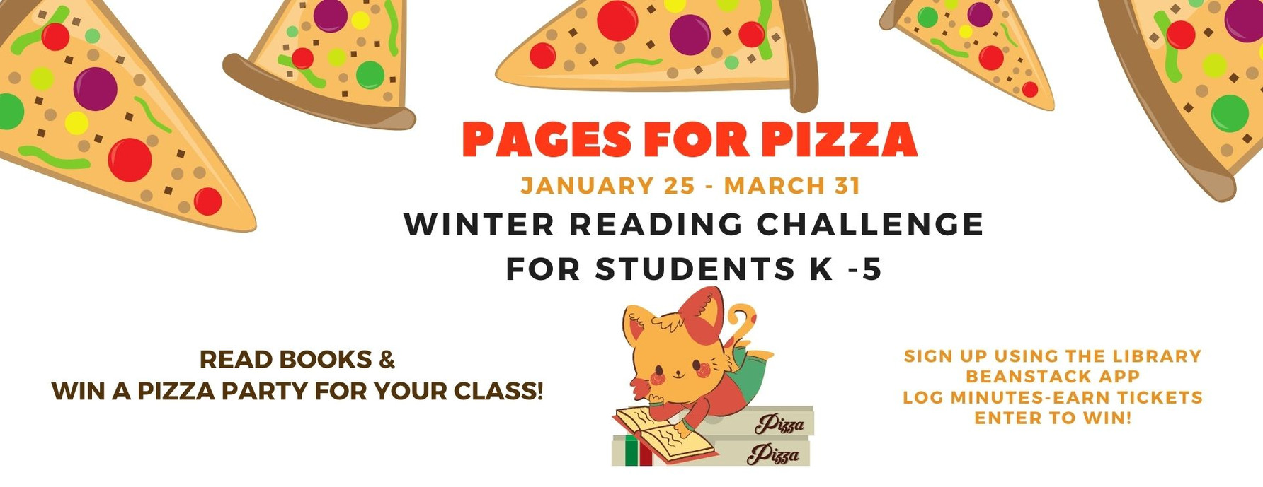 Pages for Pizza Winter Reading Challenge