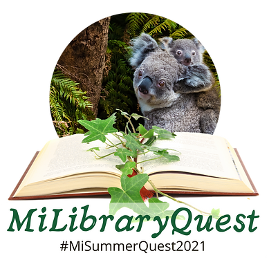 """MiLibraryQuest logo with koalas, an open book, and the text #MiLibraryQuest2021   Alt text allows screen readers to read the description of the image, so those who can't see the image will know what it is.  If you need help adding alt text, please let us know.   To verify alt text has been added in Chrome: Right click on the image posted on your website. Choose Inspect. A window will open to the right of your screen. At the top, you'll see a row of options.  Elements is the first option and should already be chosen.  If not, click on Elements. In the bottom part of the window, you will now see another row of choices beginning with Styles.  Choose Accessibility (the last choice in that row). Click on the """"""""name"""""""" line (you may need to scroll down) and you will see a line begining with alt.  The alt text you entered should be on that line.  To verify alt text has been added in Edge: Right click on the image posted on your web"""