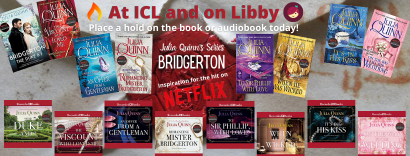 Bridgerton Series at ICL & on Libby!