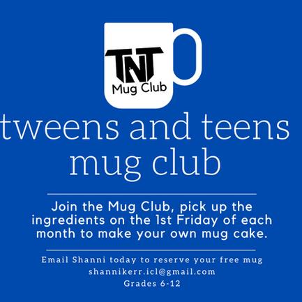 Tweens and Teens Mug Club