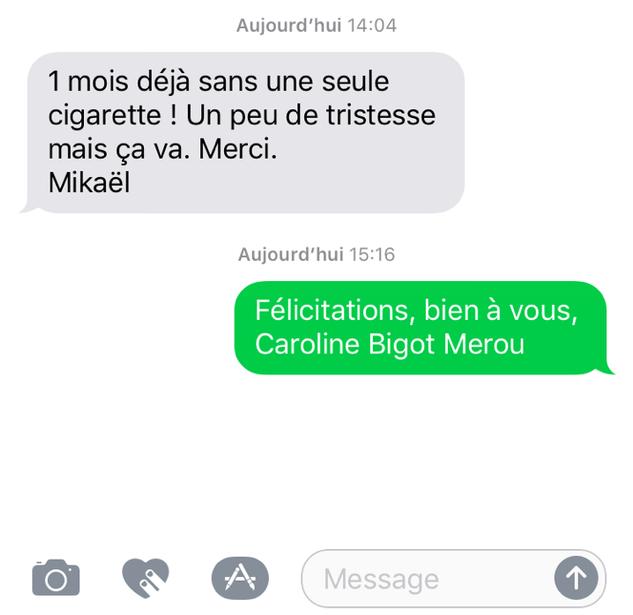 1 mois sans cigarette Merci Hyonose Nice