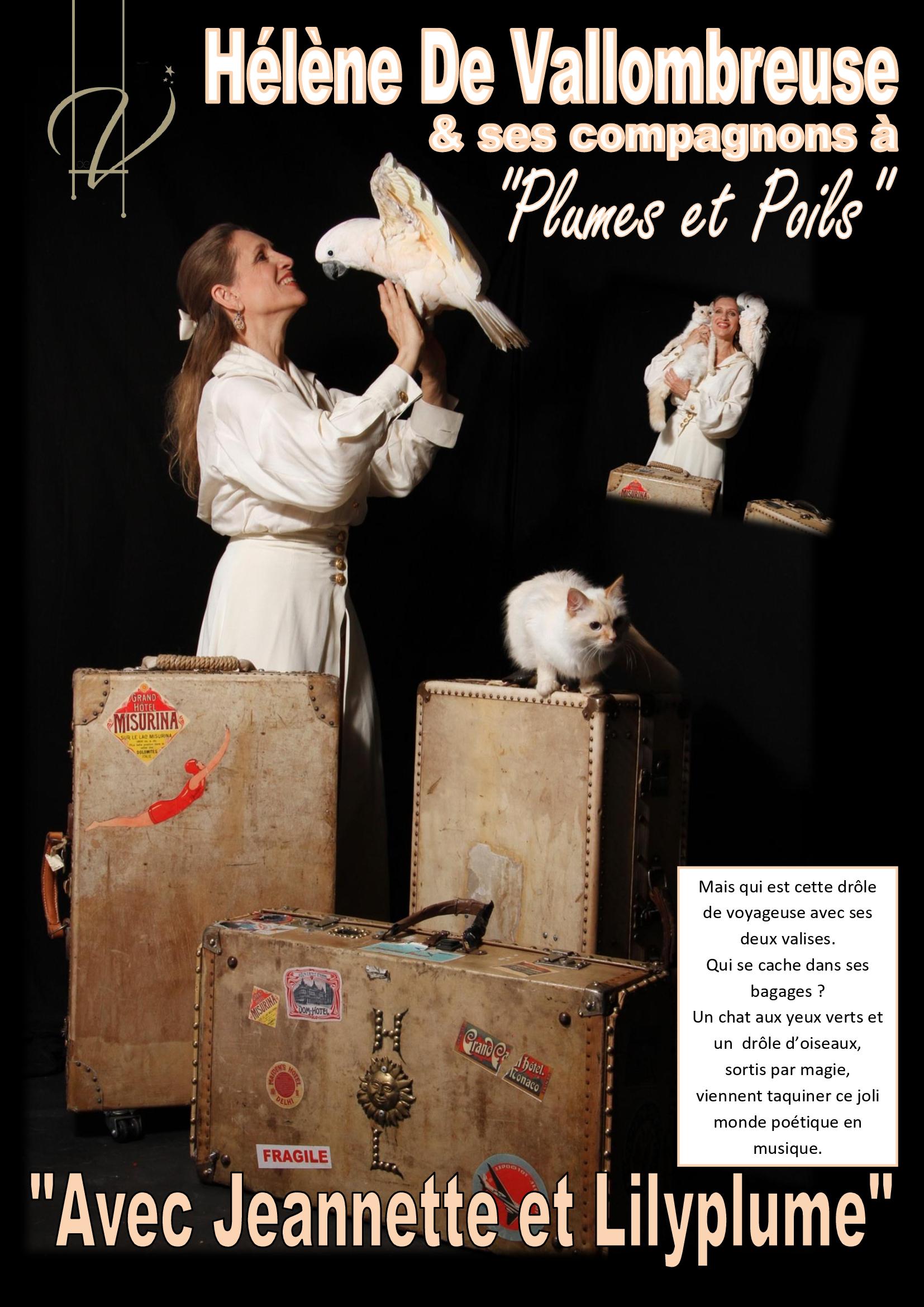 Hélène De Vallombreuse et ses perroquets