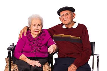 Elderly couple seeking health and elder law services