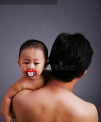 Asian adoptive dad with newborn adopted son