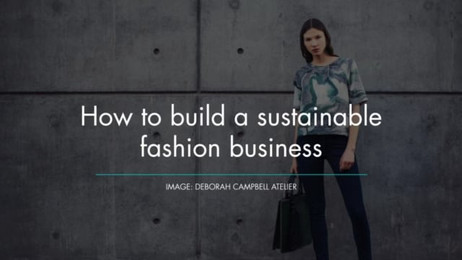 How to build a sustainable fashion business