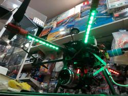 Vista frontal dron profesional