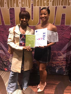 Imani Spann and Amani Commodore (Both Class of 2018) at NYCDA Nationals College Scholarship Presentation