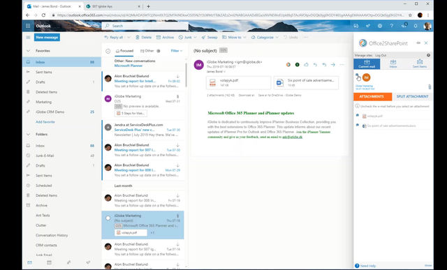 Did you know? You can save an e-mail as PDF with #Office2SharePoint