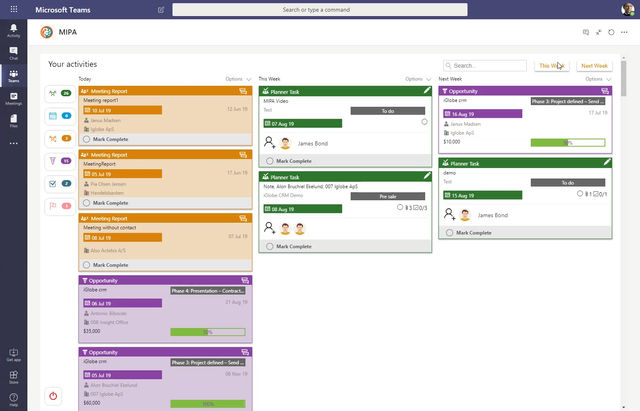 Did you Know? You can drag&drop activities to change the due date with MIPA for Teams