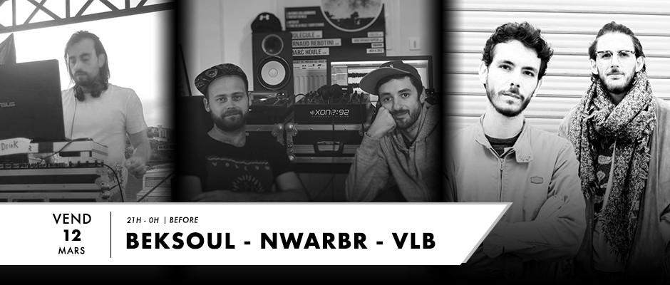 Photo pour le live sur F2 Radio avec VLB, Nwarbr et Beksoul