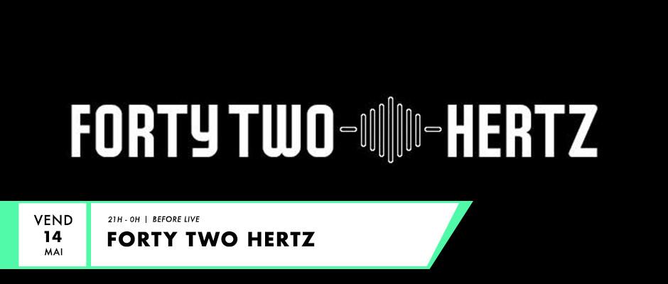 Logo de l'association 42 hertz pour live F2 radio