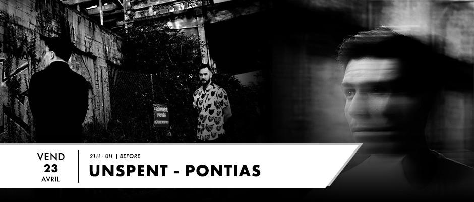 Photo de Unspent et Pontias pour live sur F2 Radio