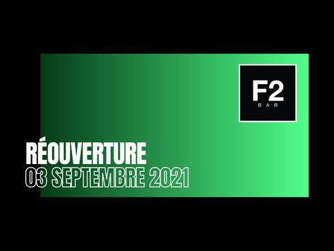 RÉOUVERTURE 03.09.2021