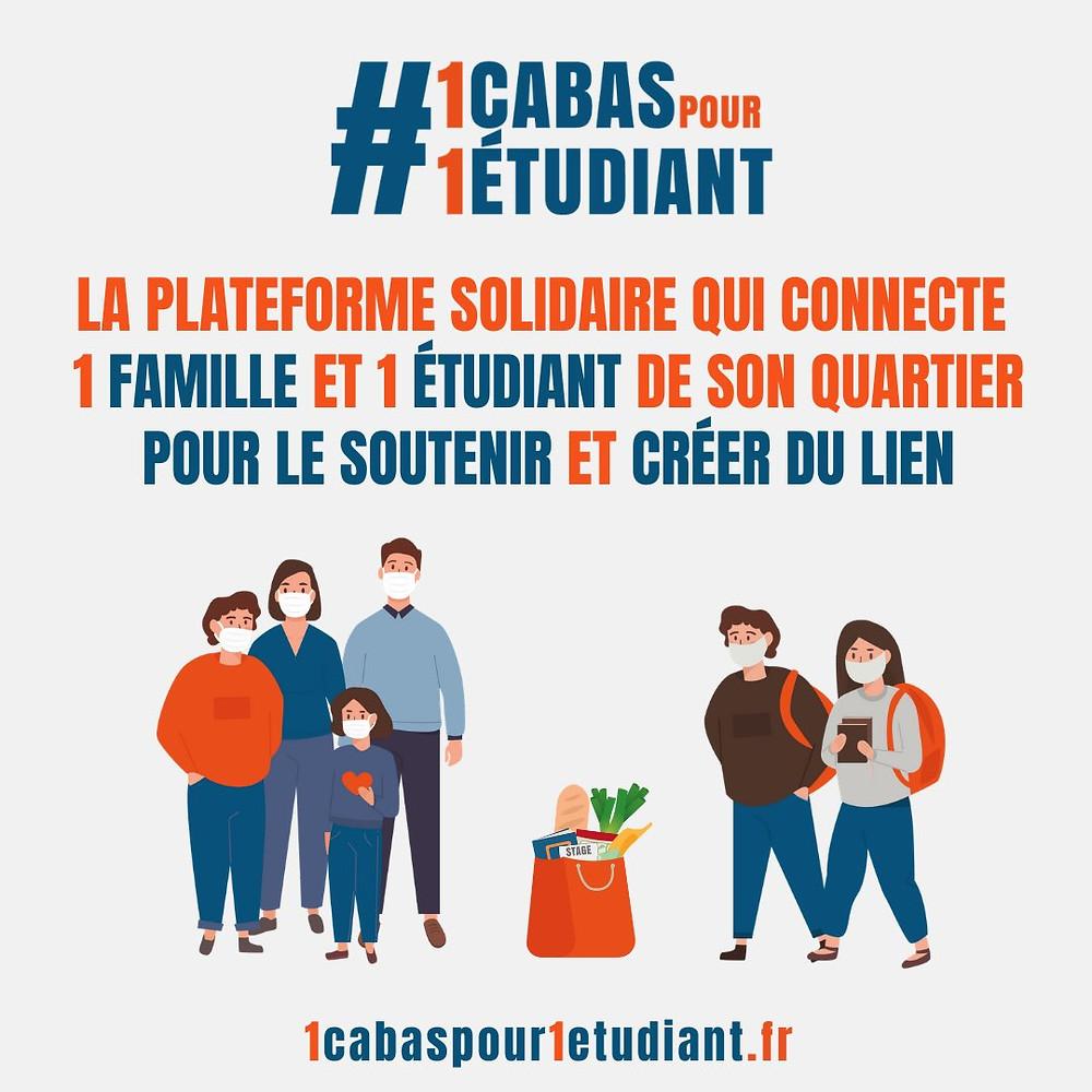 Seconde affiche pour #1CabasPour1Étudiant