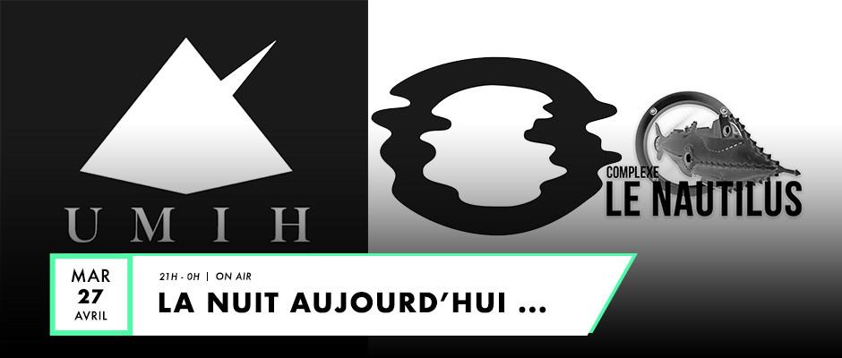 Logo de UMIH 42 et du Nautilus pour live F2 Radio