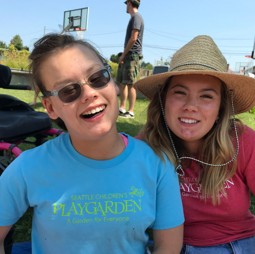 Two sisters enjoy camp together