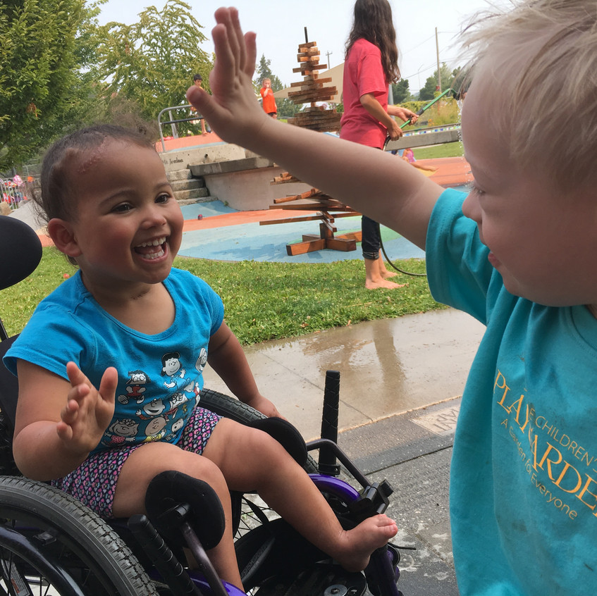 High fives for inclusion!