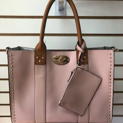 Studded Accent 2 in 1 Tote