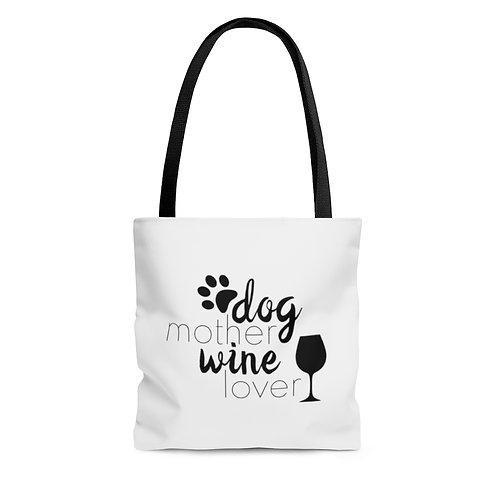 Dog Mother Wine Lover Tote Bag