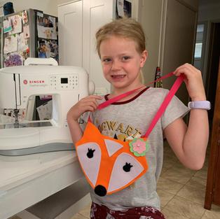 Miss H's fox bag