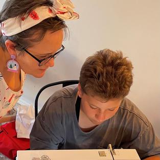 Miss M sews a headwrap