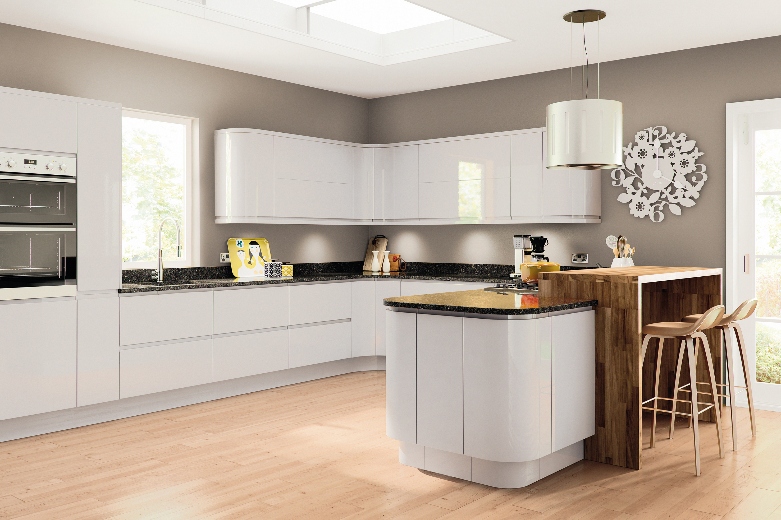 Lacarre Gloss Light Grey Kitchen